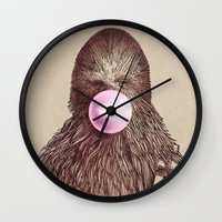 yetiland Wall Clocks featuring Big Chew by Eric Fan