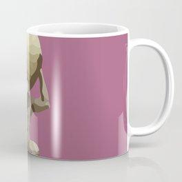 Man with Big Ball Illustration pink Coffee Mug
