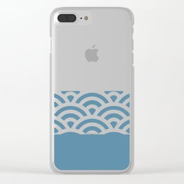 Rainbow Trim Pastel Blue Clear iPhone Case