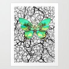 la mariposa Art Print