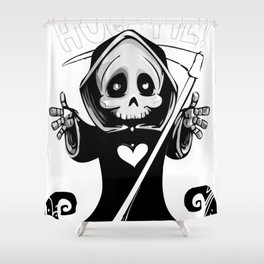 Cute Death Grim Reaper death Hug Me Shower Curtain