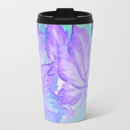 Painterly Lavender And Blue Foliage Travel Mug
