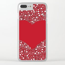 Starstruck Red heart Clear iPhone Case