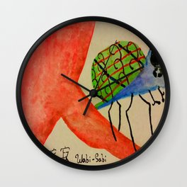 Wabi-Sabi bug Wall Clock