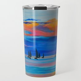 I'd Rather Be Sailing by Teresa Thompson Travel Mug