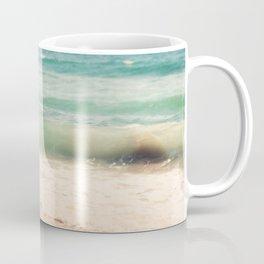 beach. Sea Glass ocean wave photograph. Coffee Mug