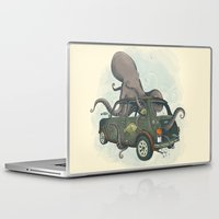 beastie boys Laptop & iPad Skins featuring Beastie of the Deep by Clinton Jacobs