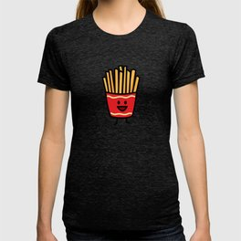 Happy French Fries potato frites fried junk food T-shirt