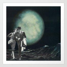 Moon Strolling Art Print