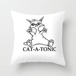Cat-a-Tonic Throw Pillow
