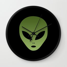Extraterrestrial Alien Face Wall Clock