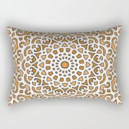 16 Fold Mandala in Orange Rectangular Pillow