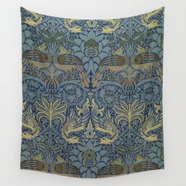 Peacock and Dragon, Woven woollen fabric, 1878. Designer William Morris Wall Tapestry