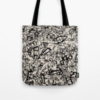 newspaper Tote Bags featuring - newspaper - by Magdalla Del Fresto