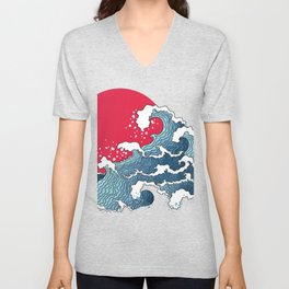 The Second Great Wave Unisex V-Neck