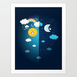 Night and Day Art Print