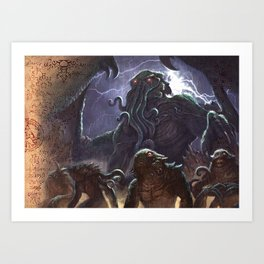 GREAT ANCIENT CTHULHU Art Print