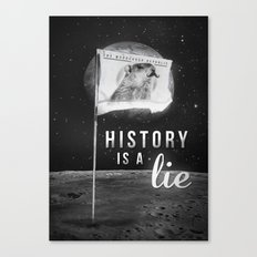 History is a lie Canvas Print