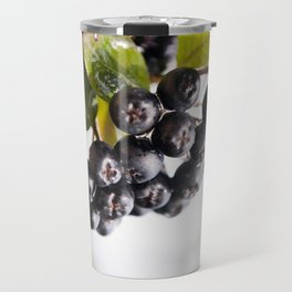 Chokeberries or aronia fruits Travel Mug