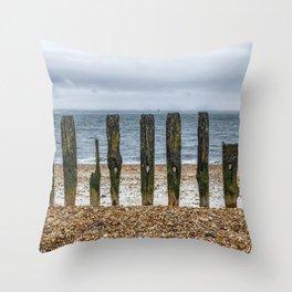 Southsea Seafront - Stumps! Throw Pillow