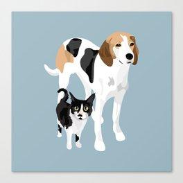 Kitten and Lulu Canvas Print
