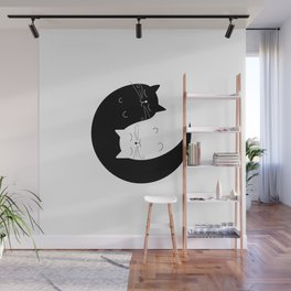 Ying yang cats Wall Mural