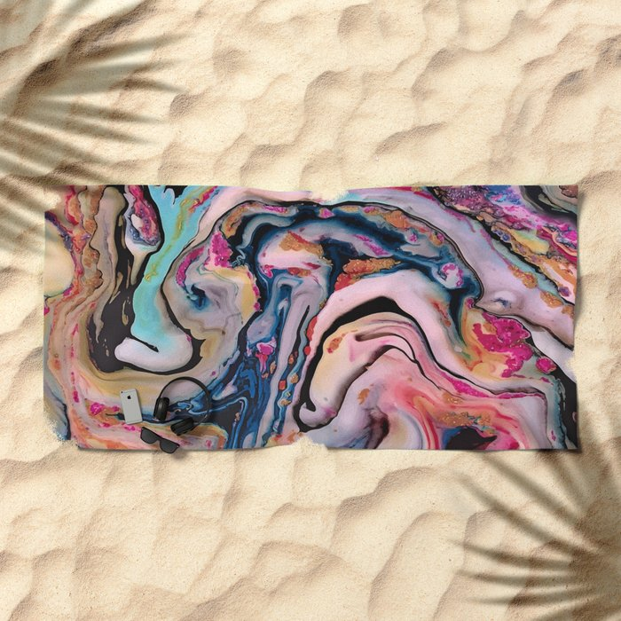 Colorful Fantasy Abstraction Beach Towel