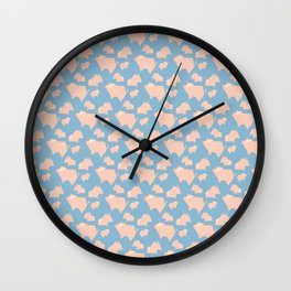 Paper Pigs (Patterns Please) Wall Clock