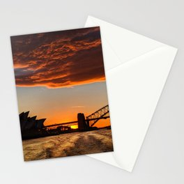 Sunset colors Stationery Cards