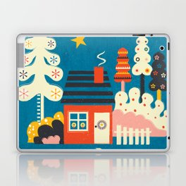 Festive Winter Hut Laptop & iPad Skin