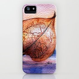 Watercolor Physalis in Light iPhone Case