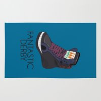 sneakers Area & Throw Rugs featuring Black Horse Sneakers by TurkeysDesign