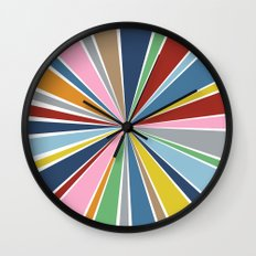 Star Burst Color Wall Clock