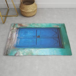 Blue Indian Door Rug