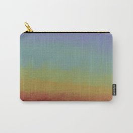 Retro Rainbow Stipple Pattern Carry-All Pouch