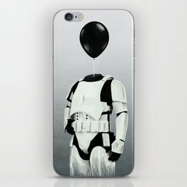 The Stormtrooper - #2 in the Balloon Head Series iPhone Skin