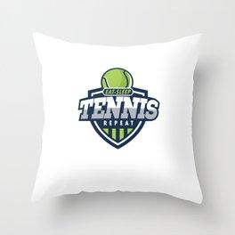 Eat Sleep Tennis Players Racquet Racket Tennis Ball Court Net Outdoor Indoor Activity Gifts Throw Pillow