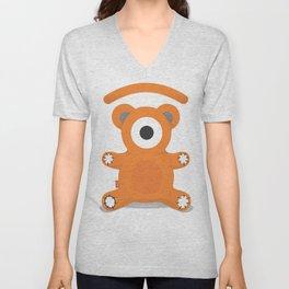tedd.eye bear Unisex V-Neck