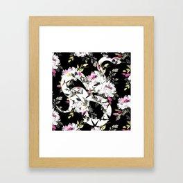 White Snake Framed Art Print