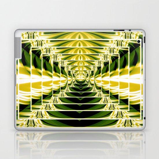 Abstract.Green,Yellow,Black,White,Lime. Laptop & iPad Skin