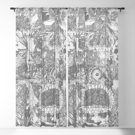 Monster Forest Sheer Curtain