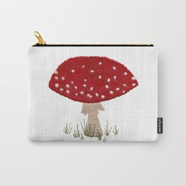 Toadstool Embroidery Carry-All Pouch