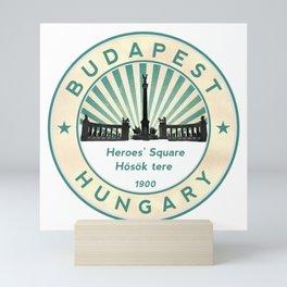 Budapest, Heroes' Square, Hosök tere, Hungary, circle Mini Art Print