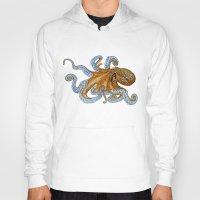 octopus Hoodies featuring Octopus by Tim Jeffs Art
