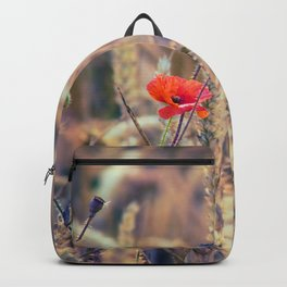 Wild Poppy in the Wheat Field Backpack