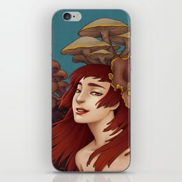 Mushroom Lady iPhone Skin