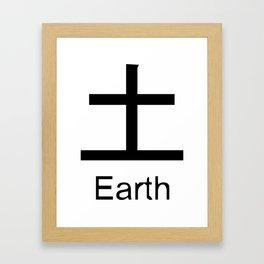Earth Japanese Writing Logo Icon Framed Art Print
