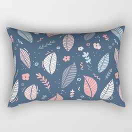 A Frolic Of Flowers And Leaves In A Perfectly Pretty Pastel Pattern Rectangular Pillow