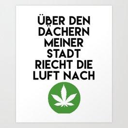 PALMEN AUS PLASTIK - Marihuana 187 Lyrics Art Print