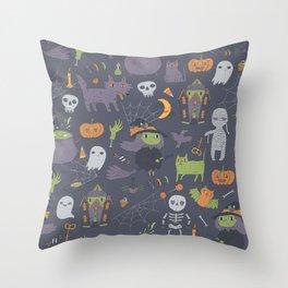 Cute Happy Halloween Throw Pillow